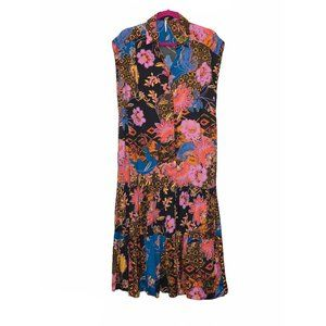 Free People Button Floral Sleeveless Maxi Dress